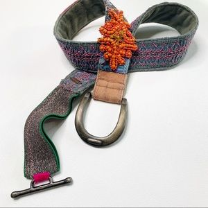 Free People patchwork belt boho